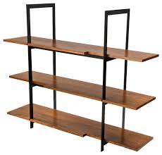 Wood and Black Steel Shelving Unit display-and-wall-shelves