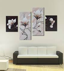multicolour framed canvas handmade acrylic style flower painting wall art decor by 999
