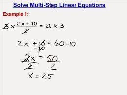solving multi step linear equations