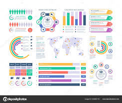 Infographic Template Financial Investment Graphs Column