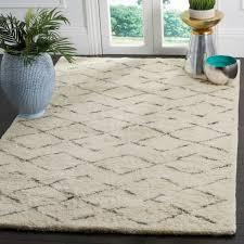 safavieh handmade casablanca ivory grey new zealand wool rug 9 x 12 for