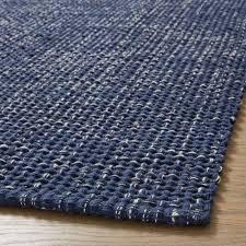 della indigo cotton flat weave rug runner 2 5x6 crate and barrel singapore