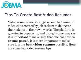 Video Resume Tips Tips To Create Best Video Resumes By Antoine Lynd Issuu