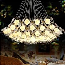 art glass lighting fixtures. Modern Art Glass Chandelier Diy Ball Pendant Light Fixture G4 Hanging For Living Room Bar Restaurant Ac85 265v Track Lighting Fixtures