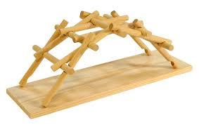Wooden Bridge Game Leonardo da Vinci's wooden science model bridge Amazoncouk 96