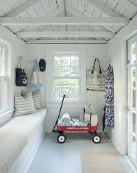 i love the white in the interior of this she shed as well as the