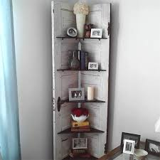 ideas and ways to repurpose upcycle recycle use old doors corner shelf unit
