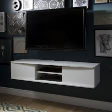 Furniture White Wooden Floating Media Cabinet With Shelf Hanging with  regard to dimensions 2000 X 2000