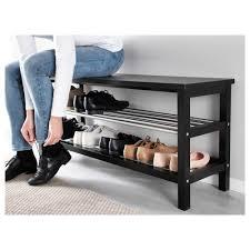 Shoe Organizer Ikea Tjusig Bench With Shoe Storage Black 108x50 Cm Ikea