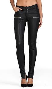 Anine Bing Size Chart Leather Skinny Pant