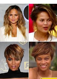 tyra banks chrissy teigen without makeup on fablife see bare faces hollywood life
