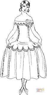 Small Picture Lady In Dress coloring page Free Printable Coloring Pages