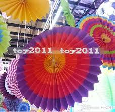 best fiesta paper fan decorations pinwheels wedding decoration multi color diy handmade flower fan foldable festive supplies under 221 11 dhgate com