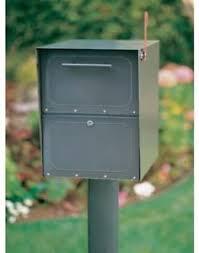 Image Is Loading SteelLockingMailboxPostColumnMountMailPackage Column Mount Mailbox C64
