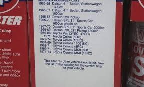 Stp Oil Filter Cross Reference Almaaloma Info