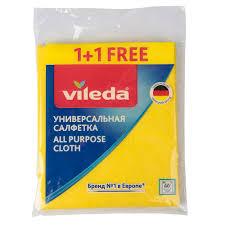 <b>Салфетки</b> универсальные <b>VILEDA</b> 1+1 купить недорого в ...