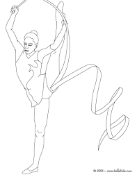 Gymnastics Coloring Sheets Gymnastics Coloring Pages Ribbon Individual All Around Rhythmic