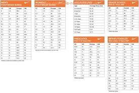 Nike Sneaker Size Chart Eastside Records Co Uk