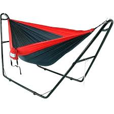 two person hammock with stand. Hammock With Stand And Mosquito Net 2 Person Double Nylon Parachute Multi Use Steel Two B