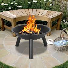 outdoor fire pit bowl simple metal