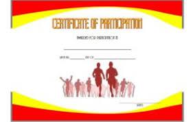 Fun Run Certificate Template Marathon Certificate Templates Free 7 Best Choices In 2019
