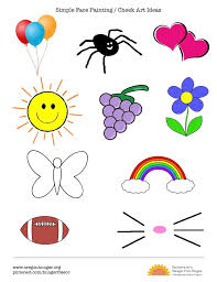 easy face painting design templates