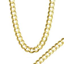 men s 7 0mm curb chain necklace in 14k gold