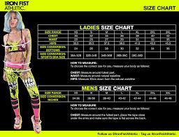 Iron Fist Size Chart