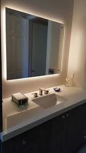 absolutely bathroom mirror with light behind best led idea onrest striping tremendous picture design and demister shaver point ireland homebase uk built in