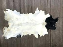 goat skin rug large white cream black genuine goatskin fur rug carpet goat skin rug uk