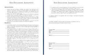 Basic Non Disclosure Agreement Template Lofts At Cherokee Studios