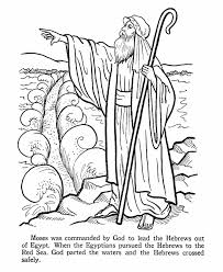 Moses Parting The Red Sea Coloring Page Coloring Home