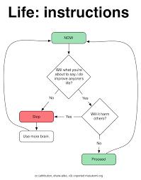 Life An Instructional Flow Chart Weblog Masukomi Org