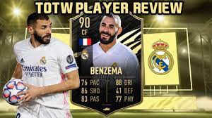 HE IS A BEAST! 90 TOTW KARIM BENZEMA PLAYER REVIEW! FIFA 21 ULTIMATE TEAM -  YouTube