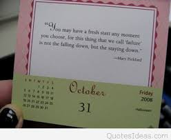 best october quotes for calendars