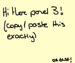 Dab Copy And Paste Hi There Panel 2 Copy Paste This Exactly Drawception