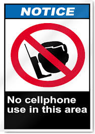 No Cell Phone Use In This Area Notice Signs Signstoyou Com