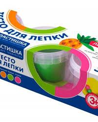 <b>LORI</b> Тдл-022 <b>Тесто для лепки</b>. Пластишка. Набор №19, 3цв. По ...
