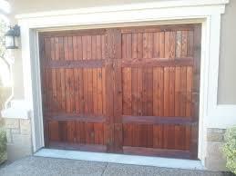 garage door staining