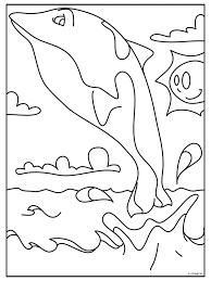 Kleurplaat Walvis Kleurplatennl