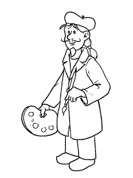 Small Picture An Artist in Professions Coloring Pages Batch Coloring