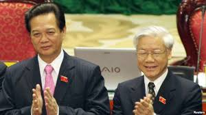 Image result for images of nguyễn phú trọng and nguyễn tấn dũng