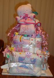 Prettiest Baby Girl Diaper Cake Ever Baby Shower Pinterest