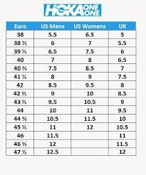 Hoka Size Chart Related Keywords Suggestions Hoka Size