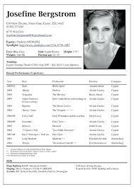 Actors Resume Simple Acting Resume Template With Picture With Free Acting Resume Template