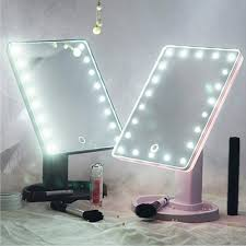 Makeup Mirror With Led Lights 22 Led Magnifying Mirror Led Light Vanity Mirror Maquillage Miroir Beauty Makeup Lights 360 Rotation Cosmetic Uk 2019 From Happylights Gbp 19 95