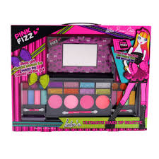 amazon pink fizz s all in one deluxe makeup palette with mirror kids pretend make up non toxic and washable toys games