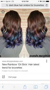 New Rainbow Oil Slick Hair Latest