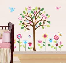 ... Beautiful Image Of Home Interior Decoration With Pottery Barn Wall  Decals : Charming Girl Baby Nursery ...