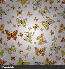 Obrázek Motýla Krásný Barevný Motýl Bílé žluté Oranžové Pozadí